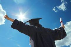 Выпускной день и диплом Стоковая Фотография RF