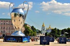 Выпускные экзамены лиги чемпионов UEFA в Киеве стоковое изображение rf