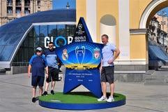 Выпускные экзамены лиги чемпионов UEFA в Киеве стоковые фотографии rf