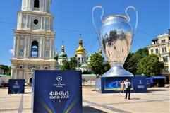Выпускные экзамены лиги чемпионов UEFA в Киеве стоковые фото
