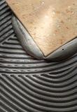 Установка плиток пола Стоковое Изображение RF