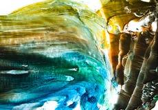 Выплеск акварели красочный Стоковые Фотографии RF