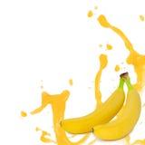 Выплеск банана Стоковое фото RF