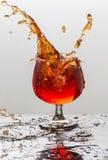 Выплеск вина Стоковое Изображение