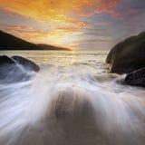 Выплеск волны Стоковая Фотография RF