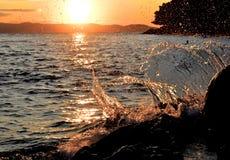 Выплеск волны Стоковые Изображения RF