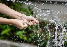 Выплеск воды воздушного шара Стоковые Изображения
