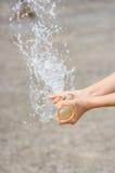 Выплеск воды воздушного шара Стоковые Фотографии RF