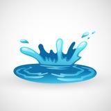 Выплеск воды иллюстрация штока