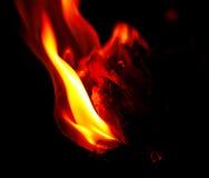 Выплеск желтого пламени Стоковое Изображение RF
