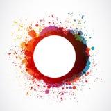 Выплеск краски Grunge Стоковые Изображения RF