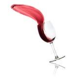 Выплеск красного вина Стоковая Фотография