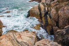 Выплеск океанской волны на видео рифа Стоковое фото RF
