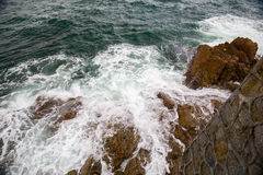 Выплеск океанской волны на видео рифа Стоковое Фото