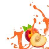 Выплеск персика Стоковое Фото