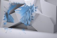 Выплеск показывая бинарный код Стоковые Фото