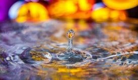 Выплеск цвета падения воды хеллоуина Стоковые Фото
