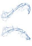 Выплеск чистой воды Bule в изолированной белой предпосылке Стоковое Изображение RF