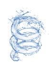 Выплеск чистой воды Bule в изолированной белой предпосылке Стоковое фото RF