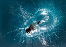 Выплеск электрической лампочки Стоковое фото RF