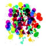 Выплеск Multi цвета просвечивающий на белой предпосылке также вектор иллюстрации притяжки corel Иллюстрация вектора