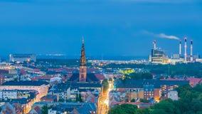 Выработка энергии для Копенгагена, городского пейзажа индустриальной зоны Стоковые Фотографии RF