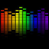 Выравниватель музыки радуги Стоковое Изображение