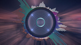 Выравниватель музыки цифров стоковое фото rf