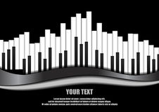Выравниватель рояля на черной предпосылке стоковые фотографии rf