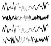 Выравниватель EQ, выравниватель выравнивается в зигзаге, скачками стиле иллюстрация штока