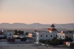 Выравниваться над деревней Arara в израильской пустыне Negev Стоковое Изображение RF