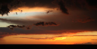 выравниваться облаков Стоковое фото RF