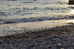 Выравниваться развевает на пляже стоковая фотография
