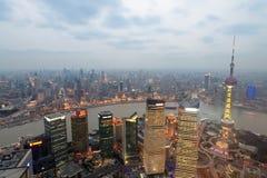 выравнивать обозревая shanghai Стоковые Изображения