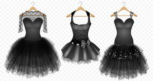 Выравнивать платья черноты бесплатная иллюстрация