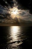 выравнивать сногсшибательный заход солнца Стоковые Изображения RF