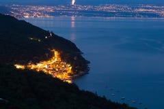 выравнивать среднеземноморской взгляд городка Стоковые Фотографии RF