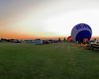 Выравнивать старт на фестивале воздушного шара Гарварда Стоковые Изображения RF
