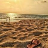 Выравнивать сцену пляжа в индийском южном побережье стоковое изображение