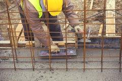 Выравнивающ и приглаживайте влажный бетон 3 Стоковая Фотография