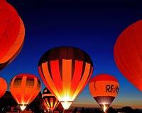 Выравнивающ старт и зарево на Гарварде раздуйте фестиваль Стоковое фото RF
