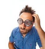 Выражение вау с стеклами глаза Стоковая Фотография RF