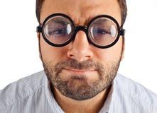 Выражение вау с стеклами глаза Стоковое Изображение