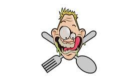Выражение голода иллюстрация вектора