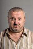 Выражение лица удивленного человека Стоковое Изображение RF