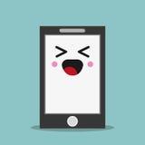 выражение лица smartphone kawaii иллюстрация вектора