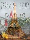 Выражение соболезнований к жертвам терроризма Стоковая Фотография RF