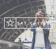 Выражение улыбки говорит концепцию фото сыра Стоковое фото RF