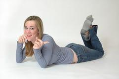 выражения знонят по телефону предназначенный для подростков Стоковое Изображение RF