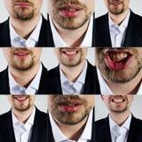 Выражения лица человека Стоковое Изображение RF